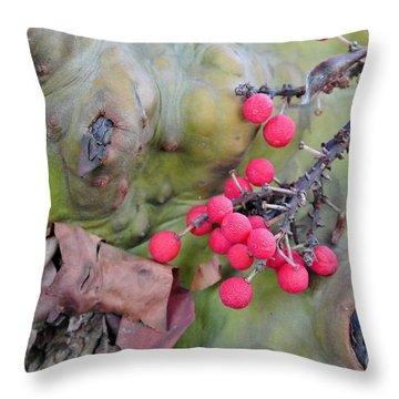 Arbutus Berries Throw Pillow