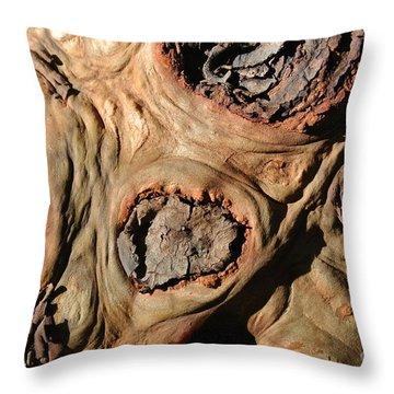Arbutus Knots Throw Pillow