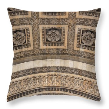 Throw Pillow featuring the photograph Arc Abstract by Glenn DiPaola