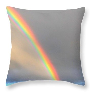 Arc Angle One Throw Pillow by Lanita Williams