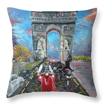 Arc De Triomphe Throw Pillow by Alana Meyers