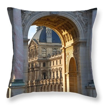 Arc De Triomphe Du Carrousel Throw Pillow