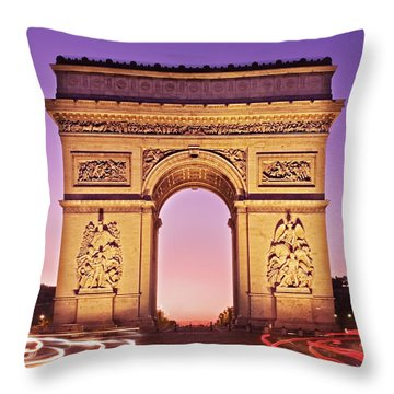 Arc De Triomphe Facade / Paris Throw Pillow