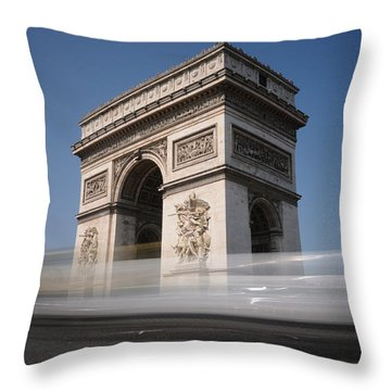 Arc De Triomphe Throw Pillow by Jeremy Voisey
