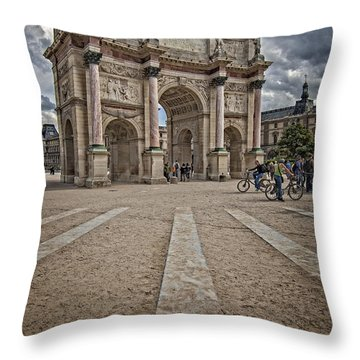 Arc De Triomphe Louvre  Throw Pillow