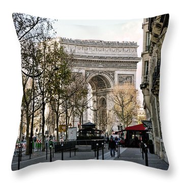 Arc De Triomphe Paris Throw Pillow