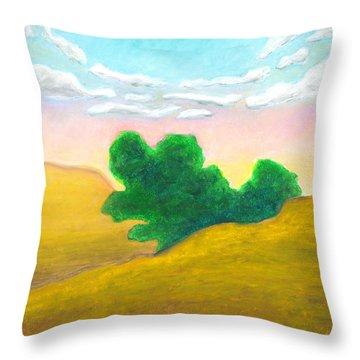 Arc Of Clouds Throw Pillow