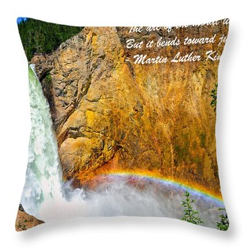 Arc Of The Moral Universe Throw Pillow by Greg Norrell