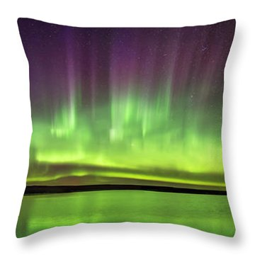 Arc Of The Northern Lights Throw Pillow