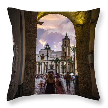 Arc Of The Rose Cadiz Spain Throw Pillow