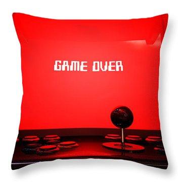 Arcade Game Game Over Throw Pillow