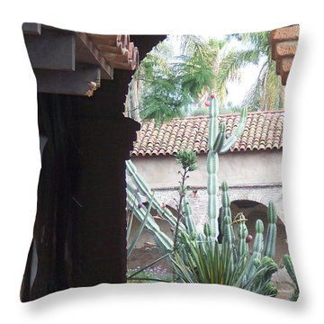 Arch And Cacti Throw Pillow