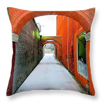Arch And Corridor Throw Pillow