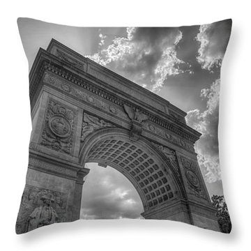 Arch At Washington Square Throw Pillow