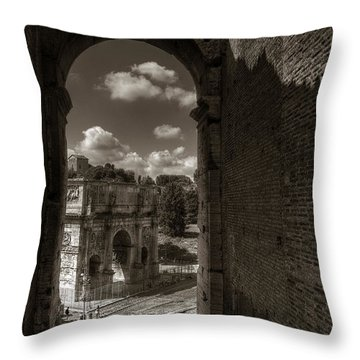 Arch Of Constantine From The Colosseum Throw Pillow