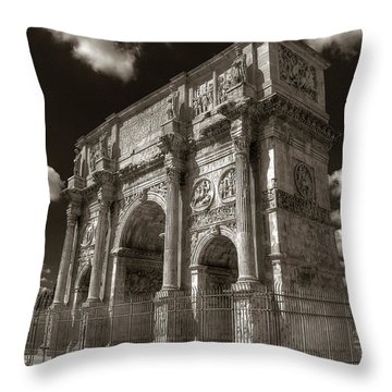 Arch Of Constantine Throw Pillow