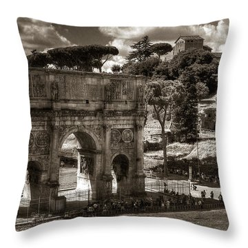 Arch Of Contantine Throw Pillow