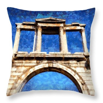Arch Of Hadrian Throw Pillow