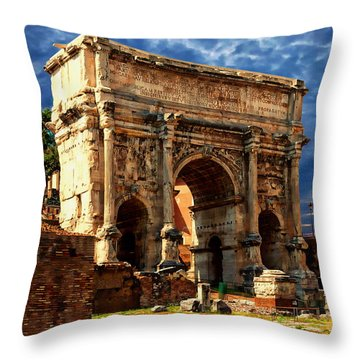 Arch Of Septimius Severus Throw Pillow