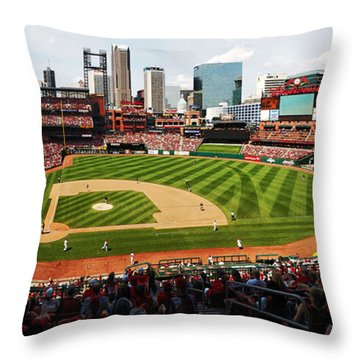 Arch Returns To The Outfield Throw Pillow