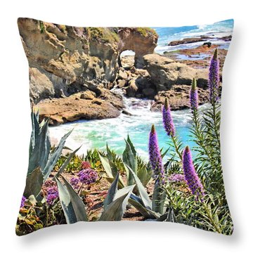 Arch Rock Laguna Throw Pillow