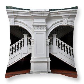 Arch Staircase Balustrade And Columns Throw Pillow