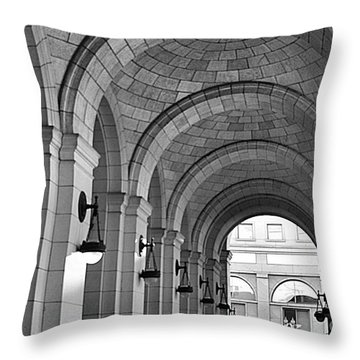 Throw Pillow featuring the photograph Arch Ways At Union Station by John S