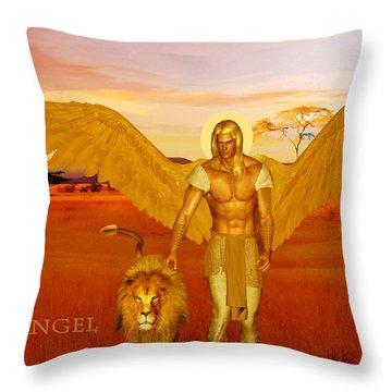 Archangel Ariel Throw Pillow