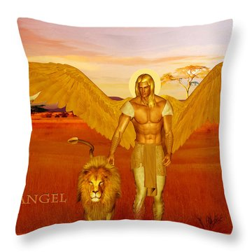 Archangel Ariel Throw Pillow