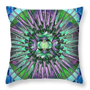 Archangels Gather Mandala Throw Pillow