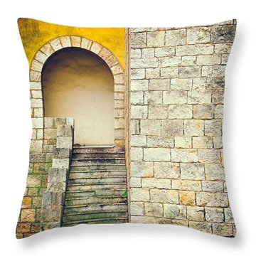 Arched Entrance Throw Pillow