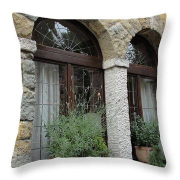 Throw Pillow featuring the photograph Stoned View by Natalie Ortiz