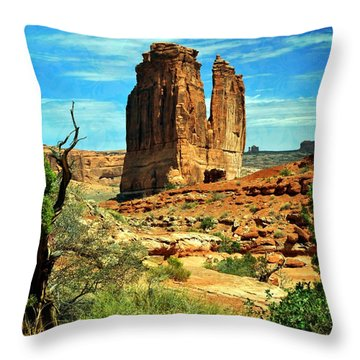 Arches 23 Throw Pillow by Marty Koch