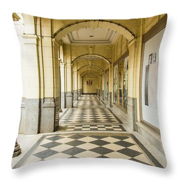 Arches And Squares Throw Pillow