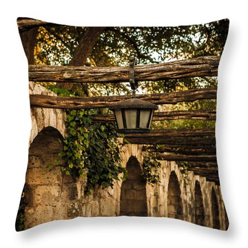 Arches At The Alamo Throw Pillow by Melinda Ledsome