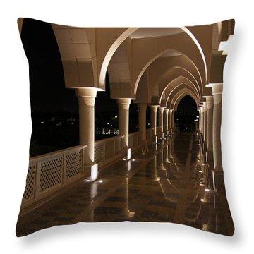 Arches In Abu Dhabi Throw Pillow by Debi Demetrion