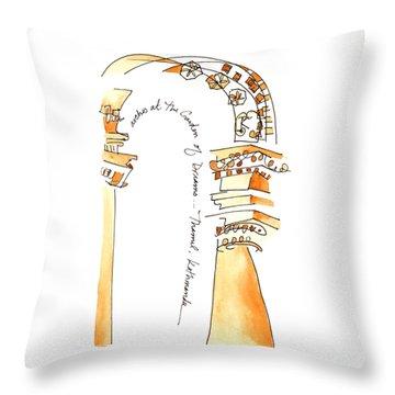 Arches In The Garden Of Dreams Throw Pillow