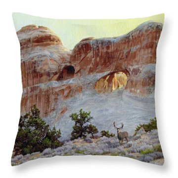 Arches Mulie Throw Pillow