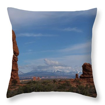 Arches National Monument Throw Pillow