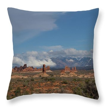 Arches National Monument Utah Throw Pillow
