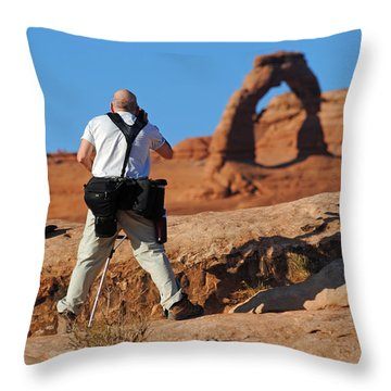 Throw Pillow featuring the photograph Arches Np 27 by Jeff Brunton