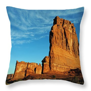 Throw Pillow featuring the photograph Arches National Park 47 by Jeff Brunton