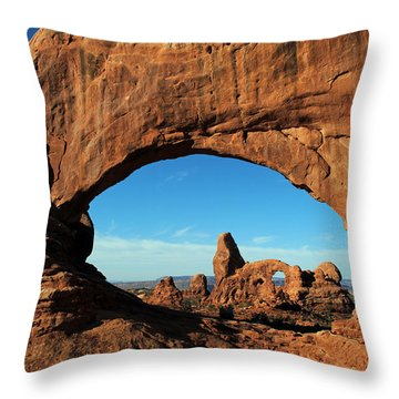 Throw Pillow featuring the photograph Arches National Park 61 by Jeff Brunton