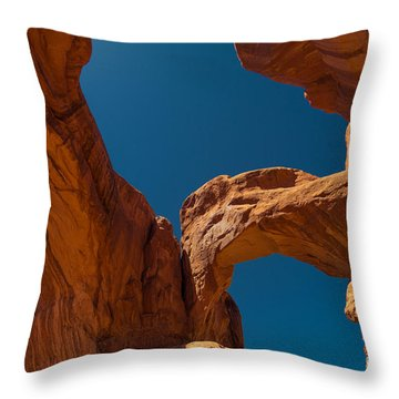Throw Pillow featuring the photograph Arches Np by Juergen Klust