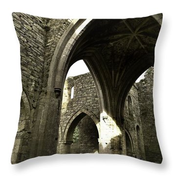 Arches Of Ages - Jerpoint Abbey Throw Pillow