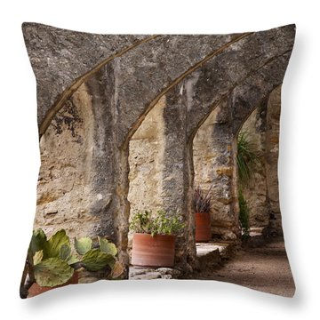Arches Of San Jose Throw Pillow by David and Carol Kelly