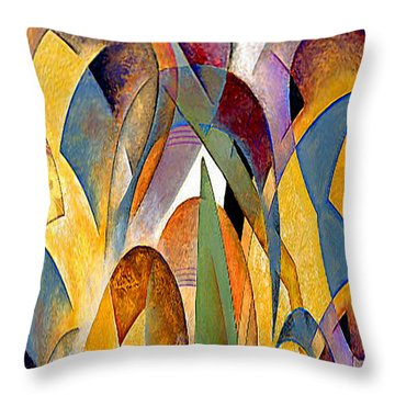Throw Pillow featuring the mixed media Arches by Rafael Salazar