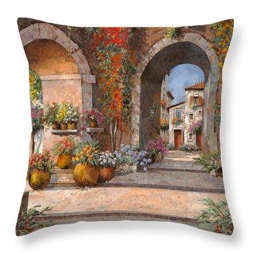 Archi E Sotoportego Throw Pillow