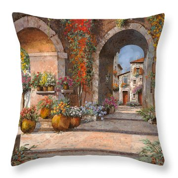 Archi E Sotoportego Throw Pillow by Guido Borelli