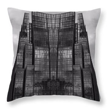Architect's Dream Black And White Throw Pillow by Dan Sproul